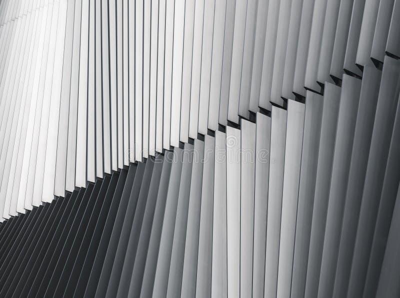 Detalle moderno de la arquitectura de la fachada de la estructura de acero imágenes de archivo libres de regalías