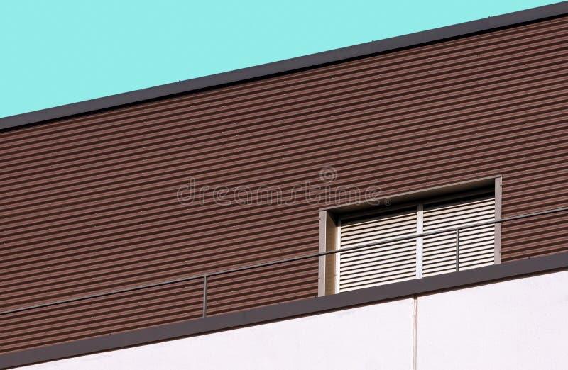 Detalle moderno del edificio de la arquitectura abstracta fotografía de archivo