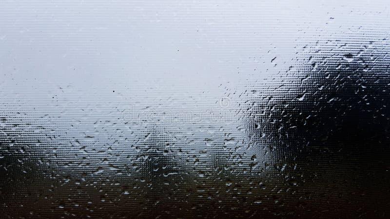 Detalle mojado de la ventana de la lluvia foto de archivo