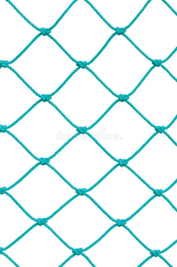 Detalle neto determinado de la cuerda de los posts de la meta del fútbol del fútbol, nuevo Goalnet verde fotos de archivo
