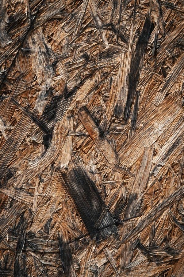 Detalle OSB de madera sucio fotografía de archivo
