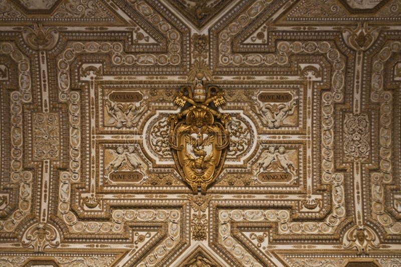 Detalle Peters Dome Rome imagen de archivo