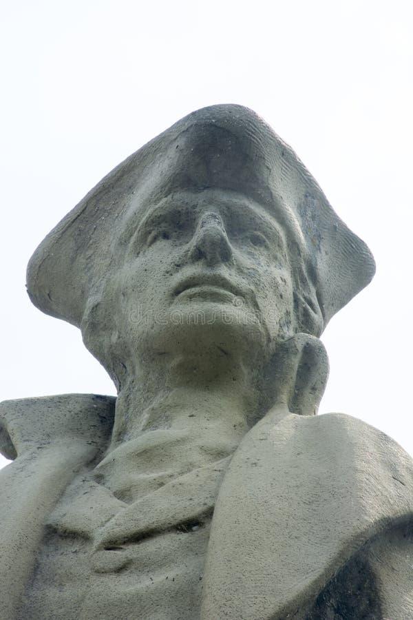 Detalle pionero del monumento de los setlers foto de archivo libre de regalías