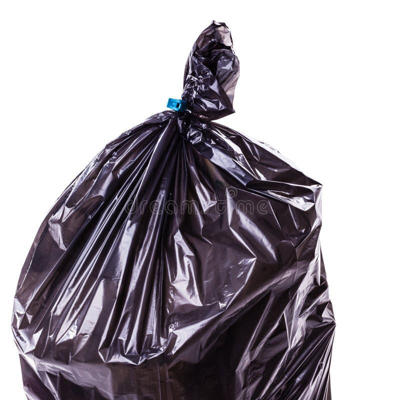 Detalle plástico del bolso de basura foto de archivo