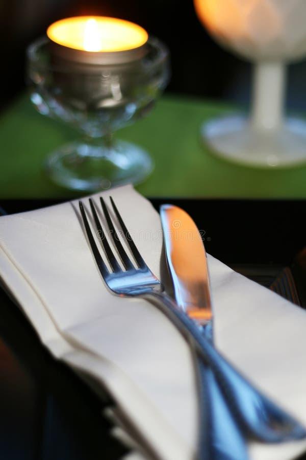 Detalle romántico de la cena imágenes de archivo libres de regalías