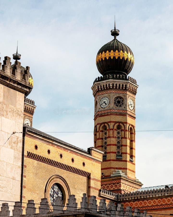 Detalle tirado de sinagoga judía en Budapest fotos de archivo libres de regalías