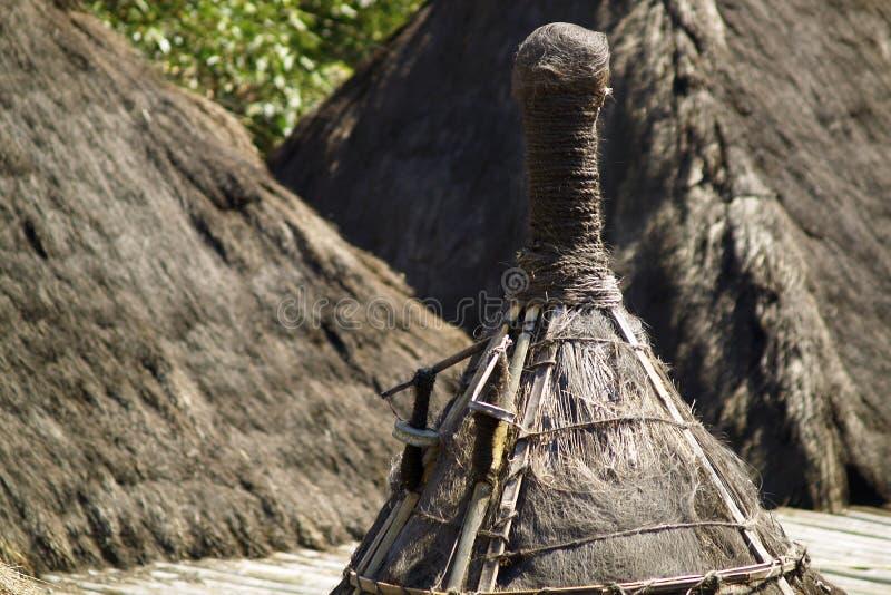 Detalle tradicional de la choza del habitante en la isla de Sumba foto de archivo