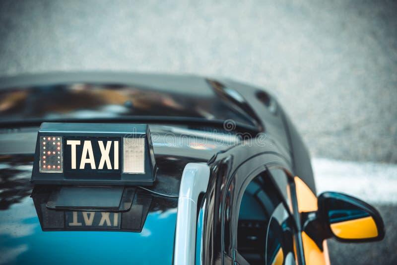 Detalle vacante del taxi fotografía de archivo libre de regalías