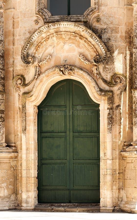 Detalles arquitectónicos de St Antonio de la iglesia de Padua en Buscemi, provincia de Syracuse imagen de archivo libre de regalías