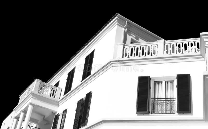 Detalles arquitectónicos de una construcción de viviendas tradicional fotografía de archivo libre de regalías