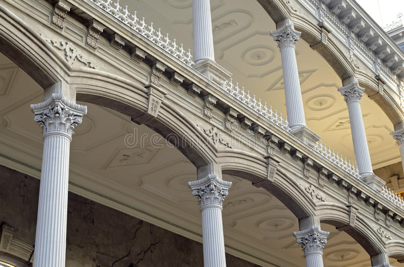Detalles arquitectónicos del palacio de Iolani fotografía de archivo