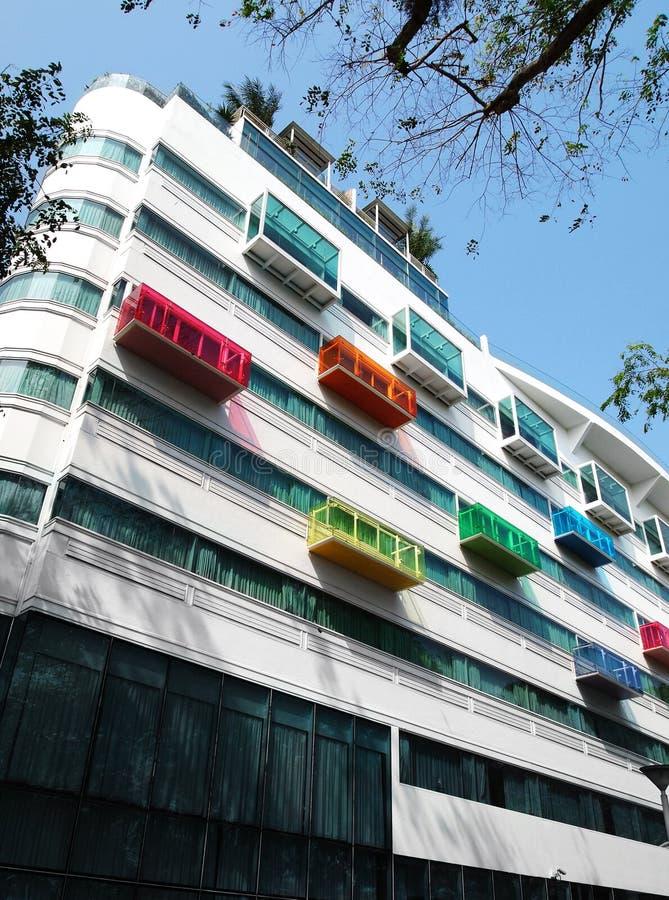 Detalles arquitectónicos, hotel moderno imagenes de archivo