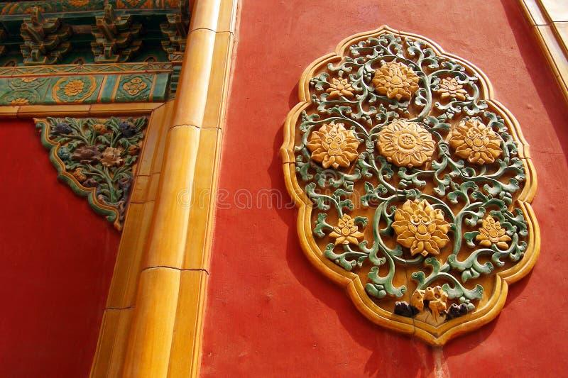 Detalles arquitectónicos prohibidos del palacio imagenes de archivo
