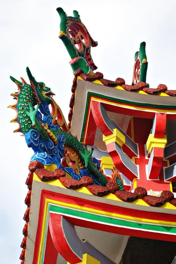 Detalles chinos de la pagoda fotos de archivo