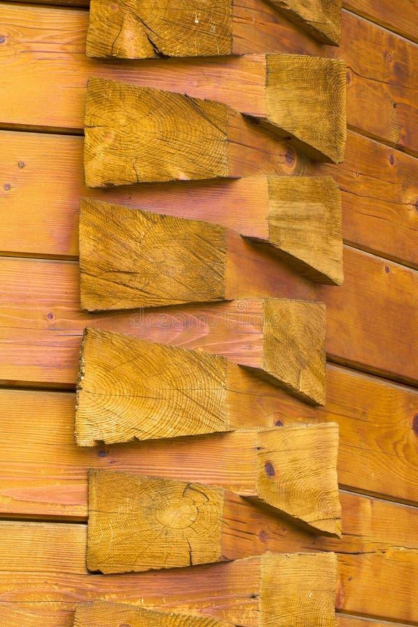 Detalles constructivos de una iglesia de madera de Rumania imágenes de archivo libres de regalías