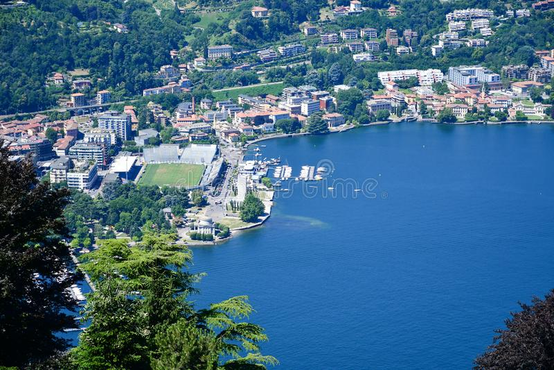 Detalles de Italia Brunate, lago Como, Italia foto de archivo