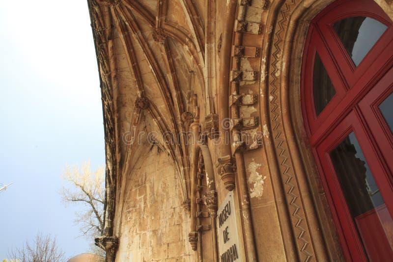 Detalles de la arquitectura del monasterio imagenes de archivo