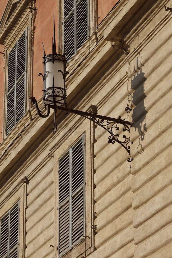 Detalles de la arquitectura en la plaza Del Campo, Siena fotografía de archivo libre de regalías