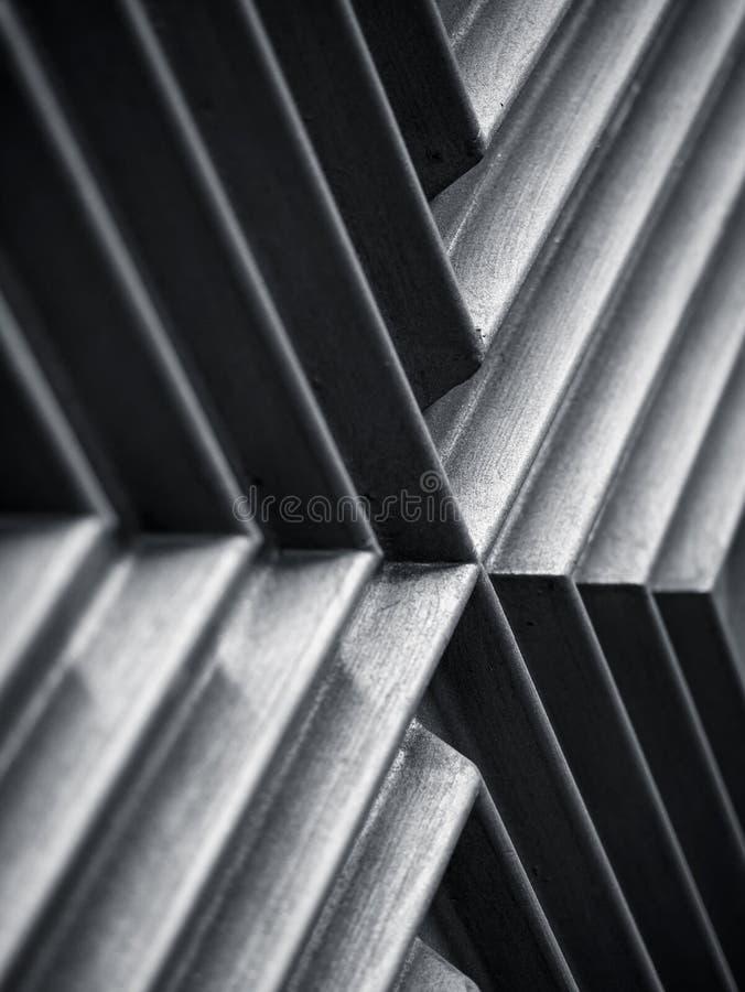 Detalles de la arquitectura Textura metálica Línea oblicua Fondo geométrico abstracto fotografía de archivo