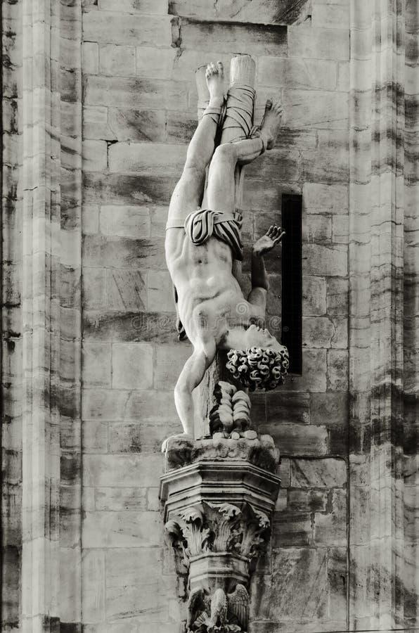 Detalles de la catedral de Milano fotos de archivo