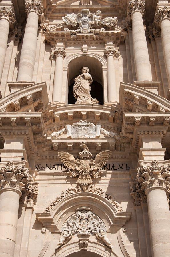 Detalles de la catedral de Syracuse fotos de archivo libres de regalías