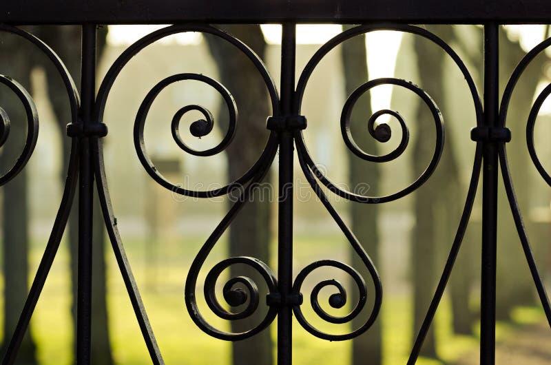 Detalles de la cerca del hierro fotos de archivo