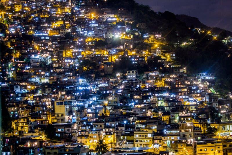 Detalles de la colina de placeres en Rio de Janeiro - el Brasil foto de archivo