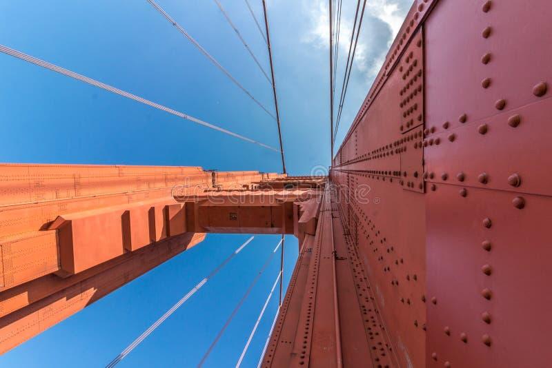Detalles de la estructura de puente Golden Gate imagen de archivo libre de regalías