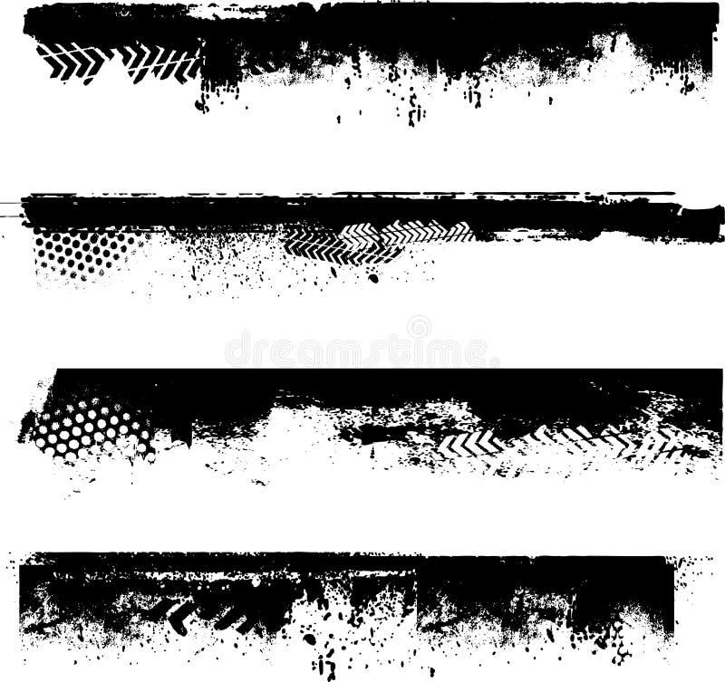 Detalles de la frontera de Grunge ilustración del vector