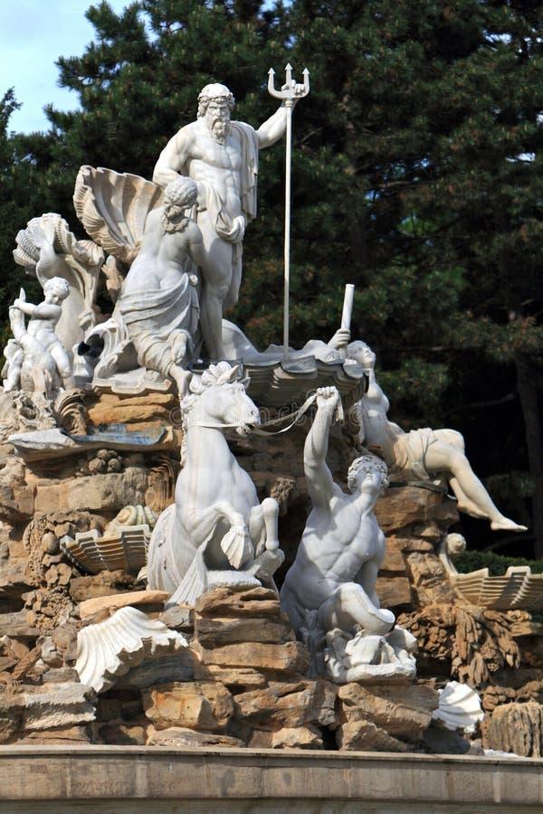 Detalles de la fuente, Viena fotografía de archivo