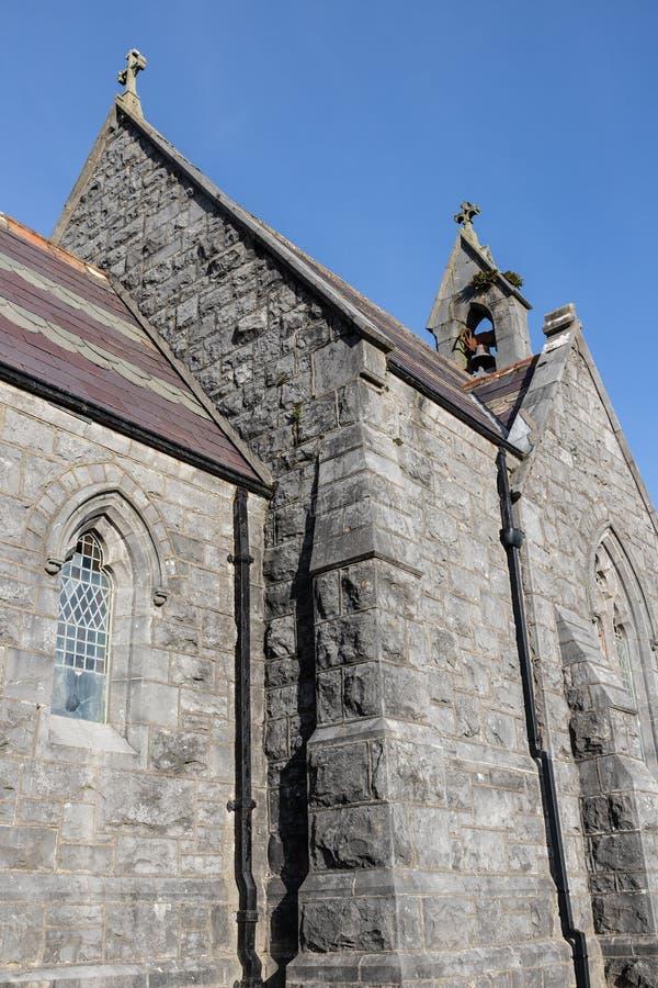 Detalles de la pequeña iglesia en el nuevo cementerio, Bohermore imágenes de archivo libres de regalías