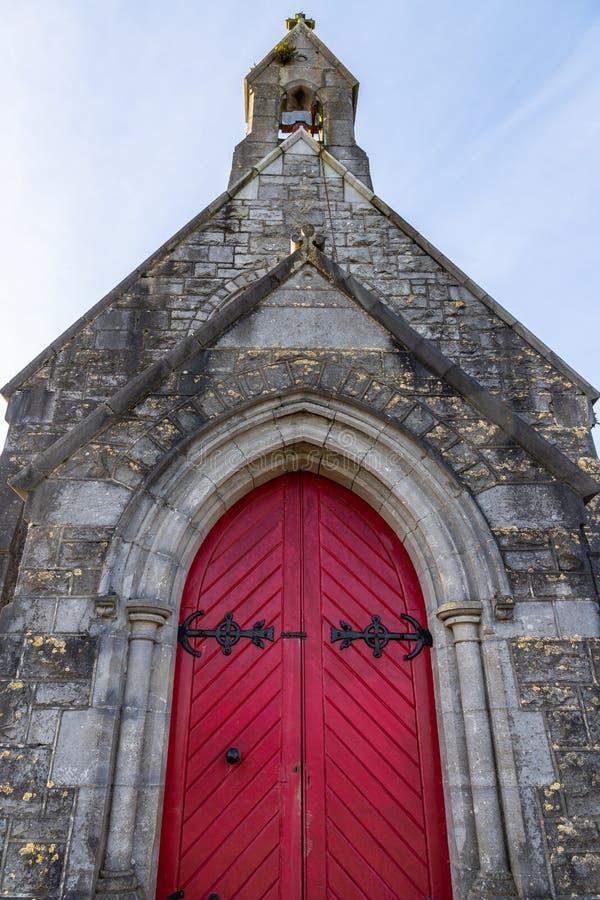 Detalles de la pequeña iglesia en el nuevo cementerio, Bohermore imagen de archivo libre de regalías