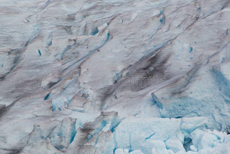 Detalles de la superficie del glaciar de Svartisen imágenes de archivo libres de regalías