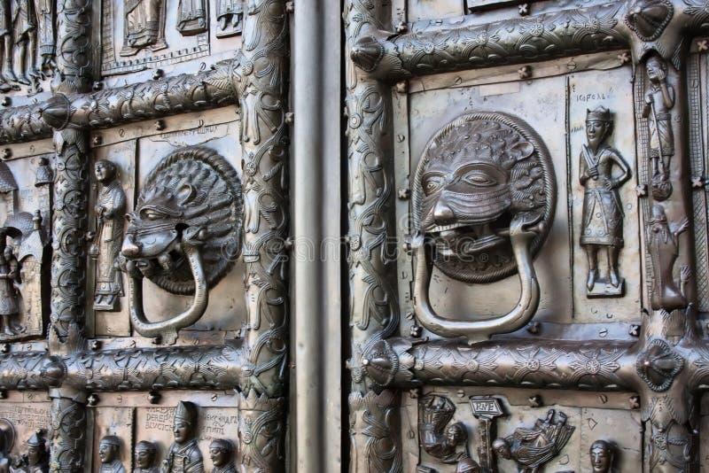 Detalles de las puertas de Magdeburg foto de archivo libre de regalías