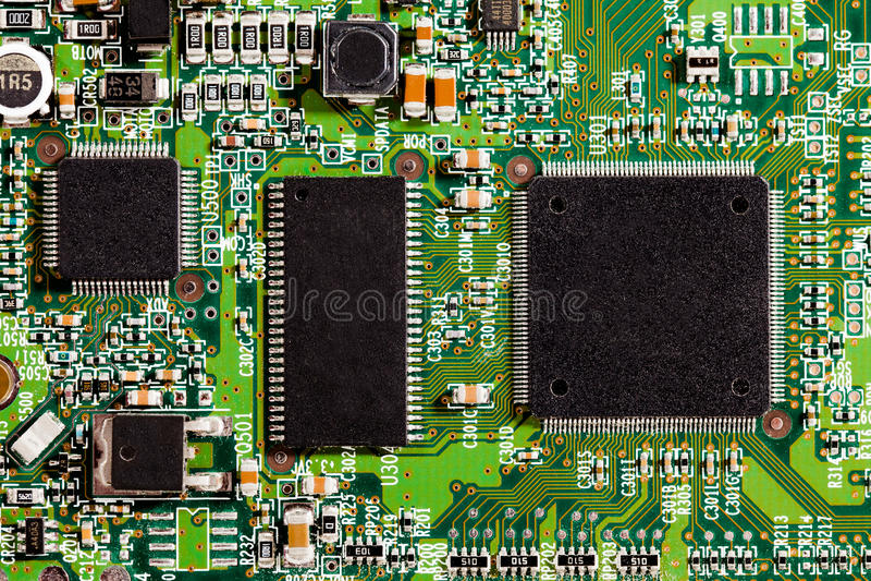 Detalles de los microchipes imagenes de archivo