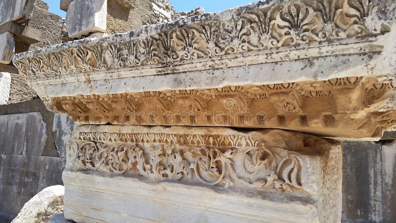 Detalles de los símbolos griegos fotografía de archivo libre de regalías