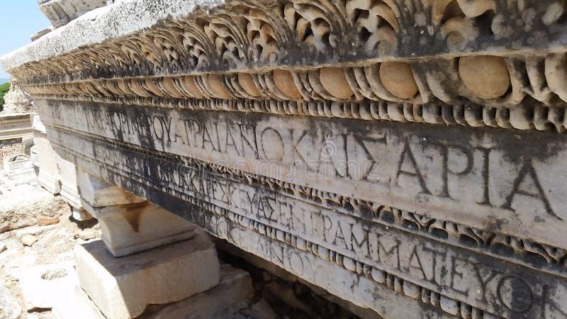 Detalles de los símbolos griegos y de Heroglyphs fotos de archivo