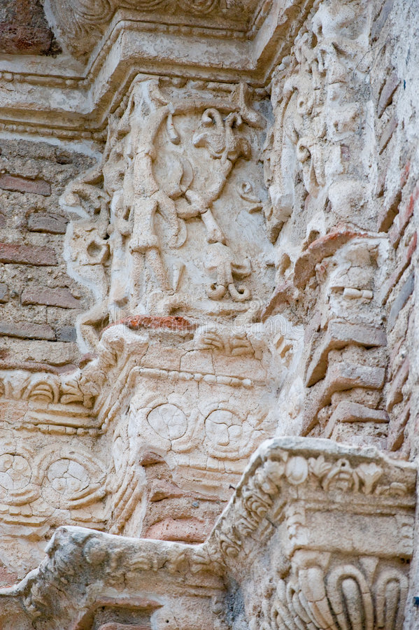 Detalles de ruinas antiguas fotos de archivo libres de regalías