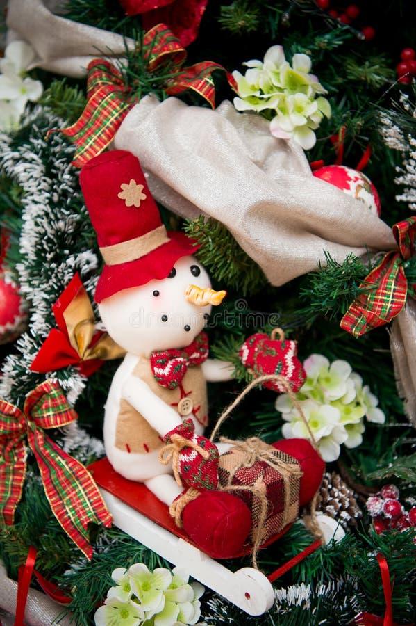 Detalles de un árbol de navidad imagen de archivo libre de regalías