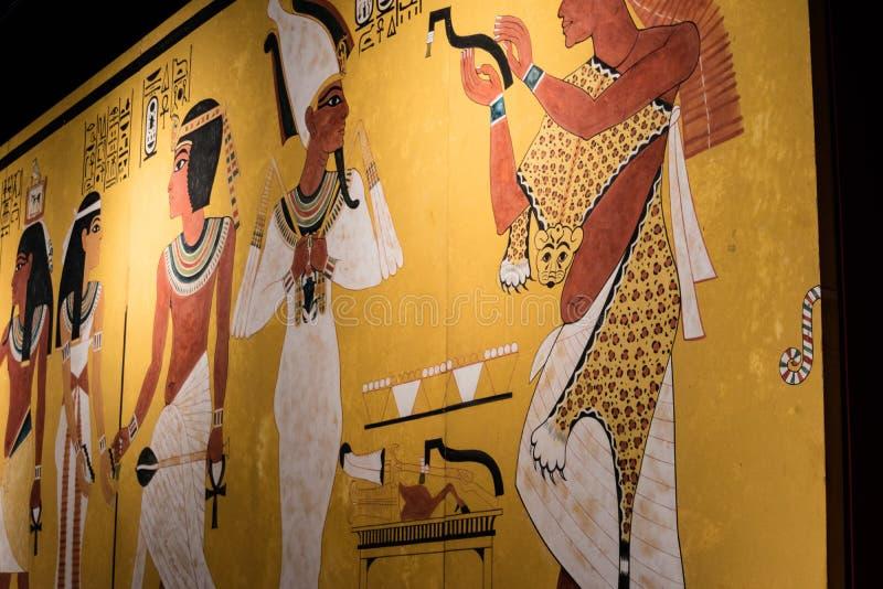 Detalles de un museo egipcio imagen de archivo libre de regalías
