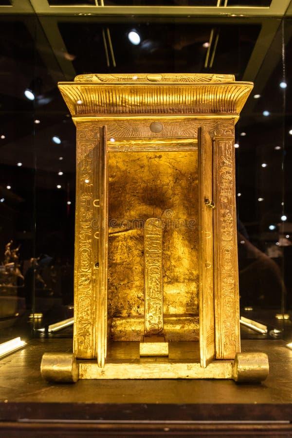 Detalles de un museo egipcio imagen de archivo