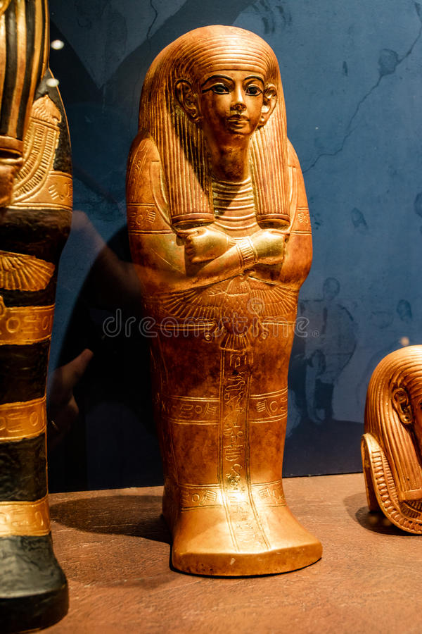 Detalles de un museo egipcio foto de archivo