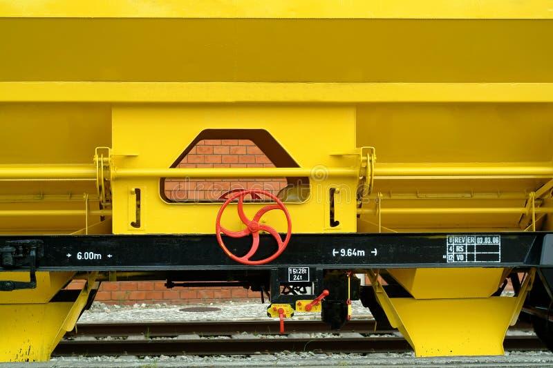 Detalles de un tren de carga imagen de archivo