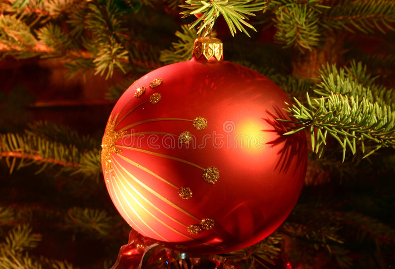 Detalles del árbol de navidad foto de archivo