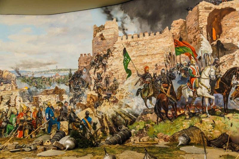 Detalles del asalto final de Constantinopla stock de ilustración