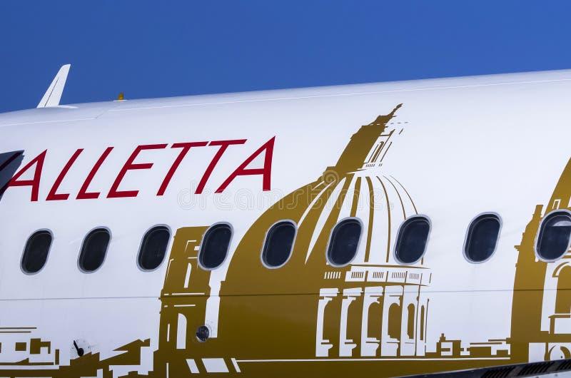 Detalles del avión de pasajeros imagen de archivo libre de regalías