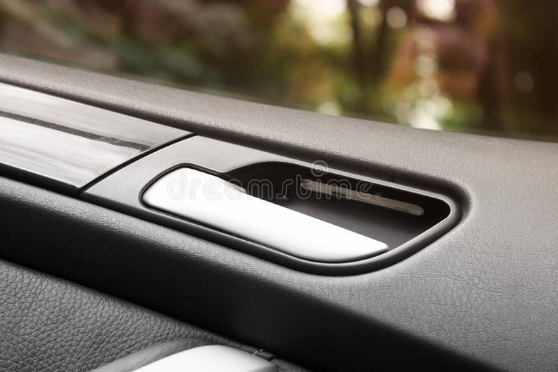 Detalles del coche Detalles del interior del coche imagenes de archivo