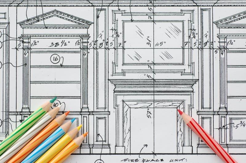 Detalles del diseño interior stock de ilustración