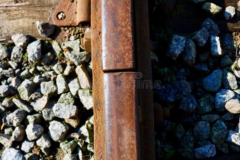 Detalles del ferrocarril foto de archivo libre de regalías