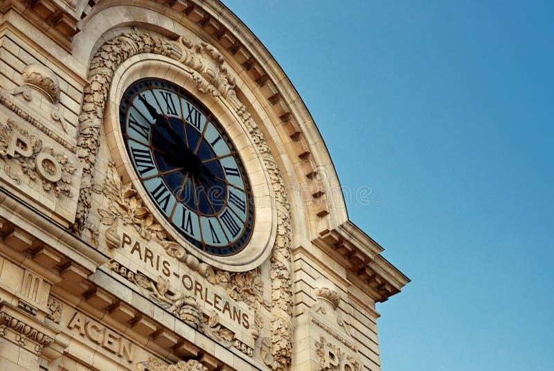 Detalles del Musée d'Orsay fotografía de archivo